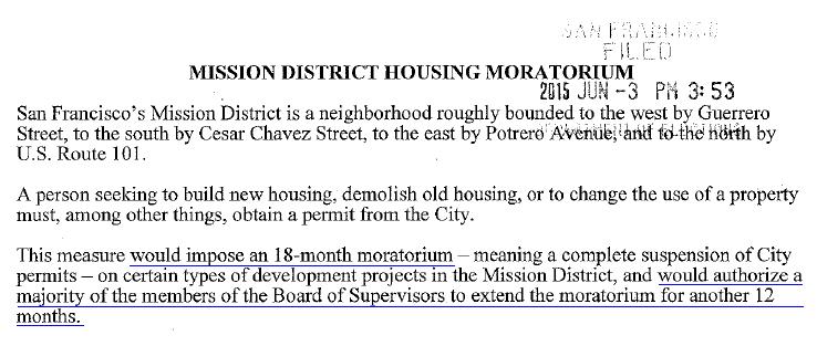 Ballot Measure Could Yield 30-Month Housing Moratorium