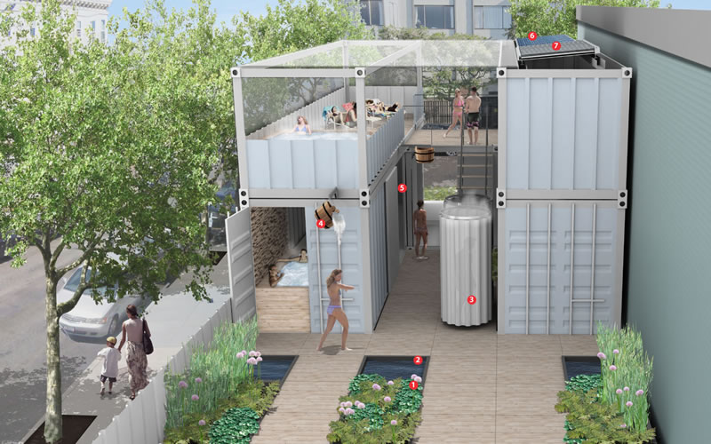 Urban Bathhouse Proposed To Pop-Up In Mission Bay