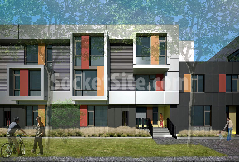 1300 4th Street Rendering - Mid-Block Detail