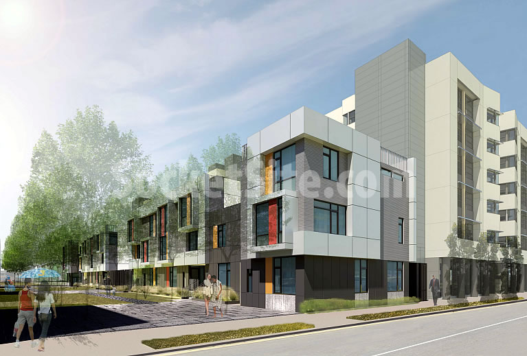 1300 4th Street Rendering - Mid-Block