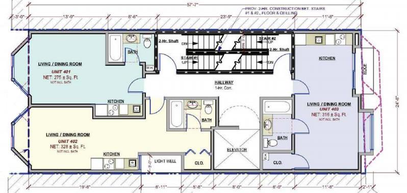 1532 Howard Street Typical Floor Plan