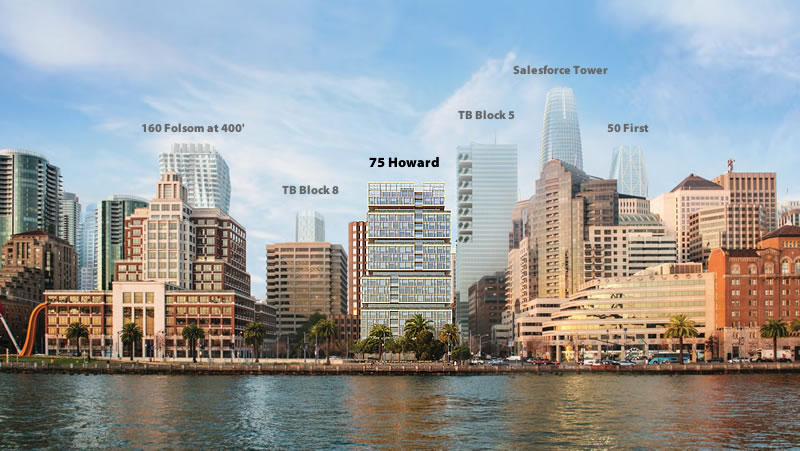 Proposed Waterfront Tower Rendered With Five New Towers As Well