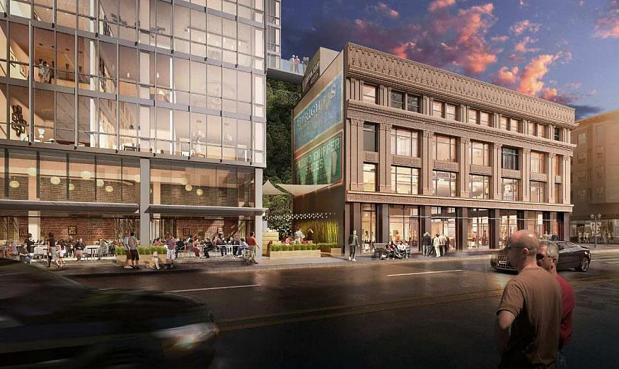 1900 Broadway Rendering: Courtyard