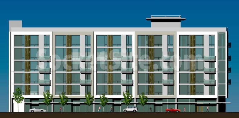 400 Divisadero Rendering: Divisadero facade