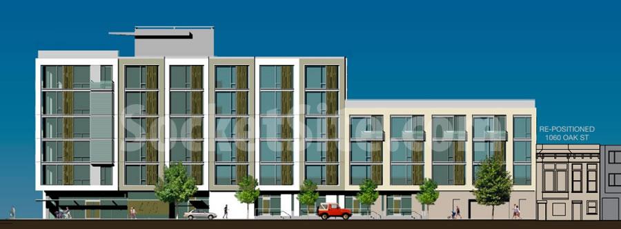 400 Divisadero Rendering: Oak Facade