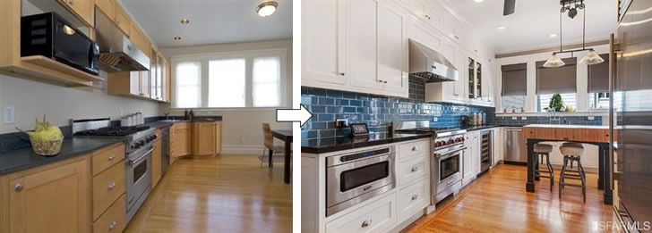 4334 19th Street Kitchen Before and After
