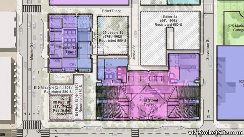 Oceanwide Center Site Plan