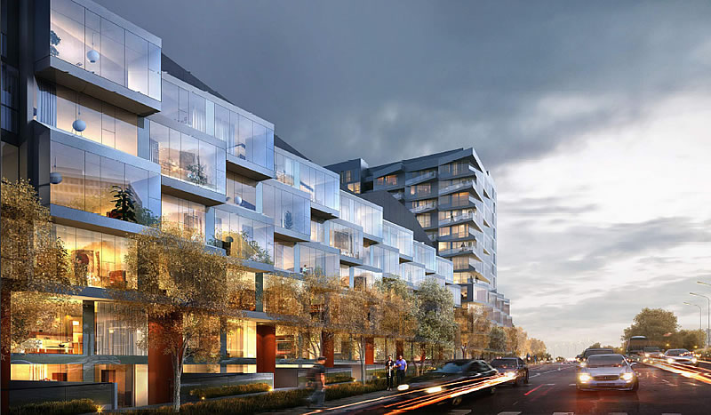 Parkmerced Phase 1: Block 20 East Facade