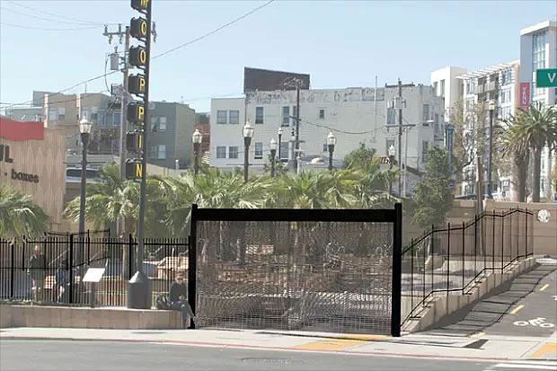 McCoppin Hub Plaza Fence Rendering