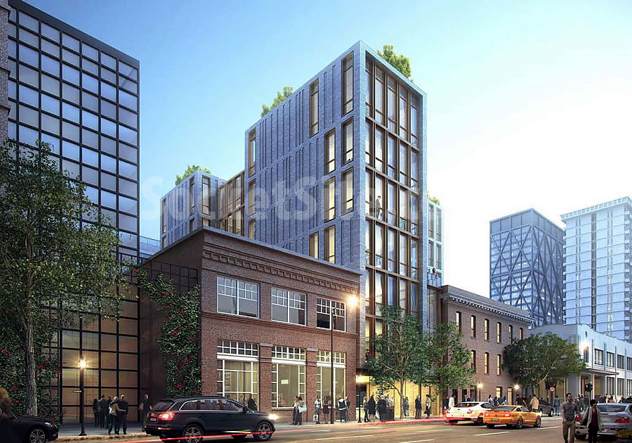 240 Pacific Avenue Rendering: Battery Facade