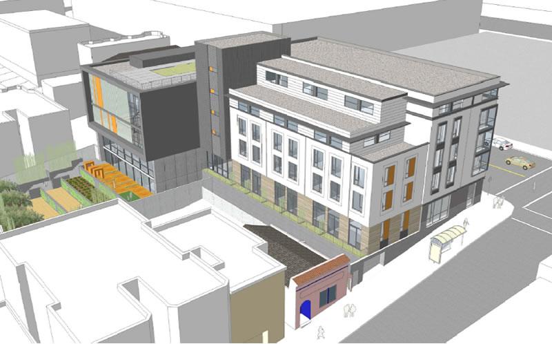 800 Presidio Avenue Rendering: Sutter Street Elevation