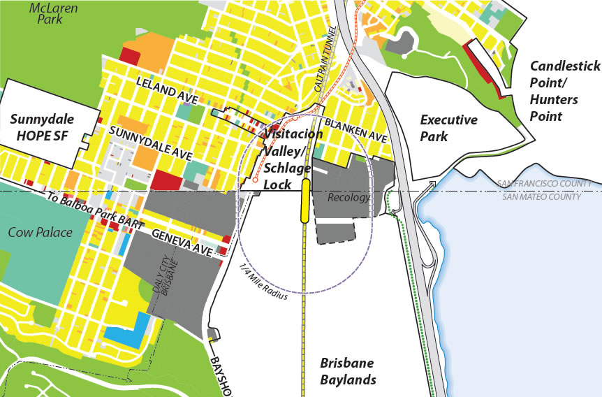 Bayshore Multi-Modal Facility Map