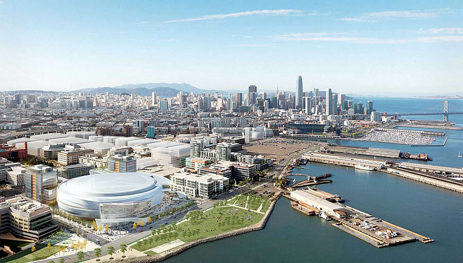 Warriors Mission Bay Arena Rendering: 11/3/15