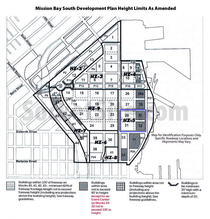 Mission Bay South Height Limits: Amended