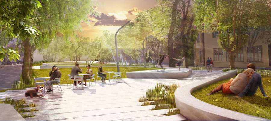 South Park Improvement Project Rendering Central Plaza