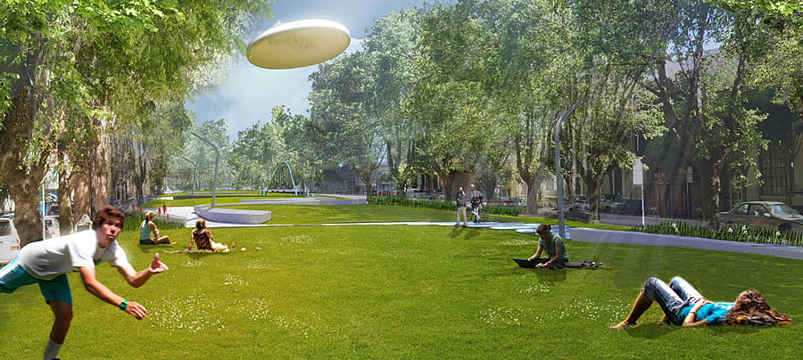 South Park Improvement Project Rendering Meadow