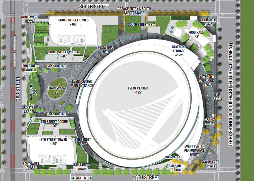 Warriors Mission Bay Arena Revised Site Plan