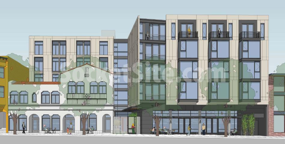 Rendering Reveal for Market Street Mortuary Redevelopment
