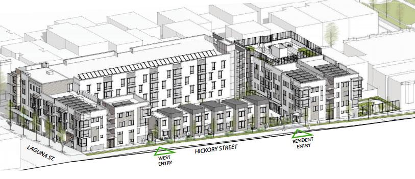 455 Fell Design: Hickory Street Facade