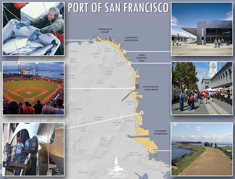 Port of San Francisco Map