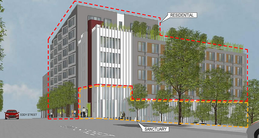 950 Gough Rendering: Separation of Church and Condos
