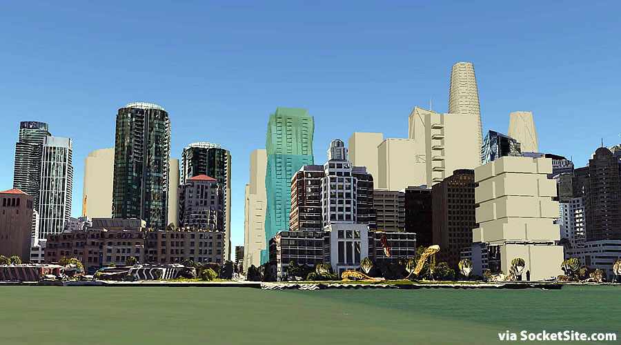 San Francisco's Future South Beach Waterfront Skyline