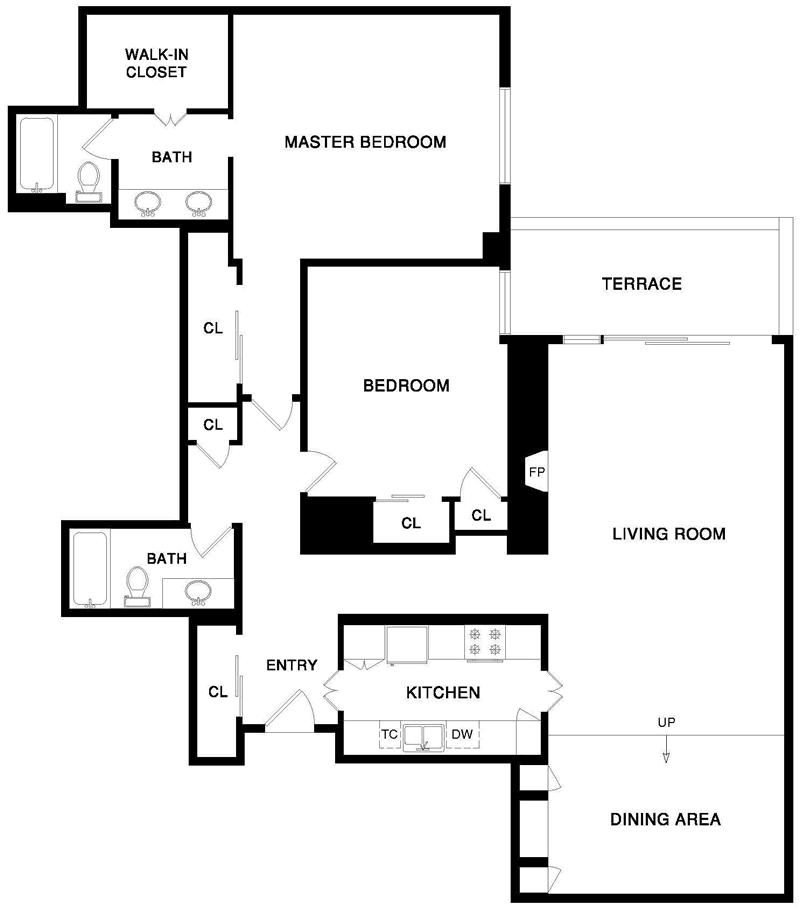 101 Lombard #812W Floor Plan