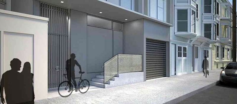 311 Grove: Ivy Street Facade