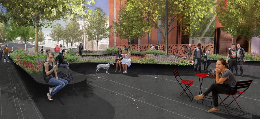 Eagle Plaza Rendering 2016 - Harrison View