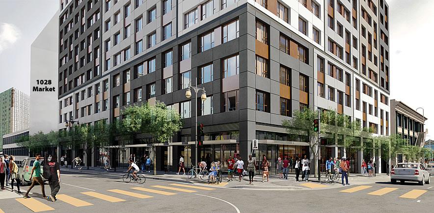 1066 Market Street Rendering: Golden Gate Retail