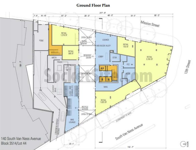 1601 Mission Street Ground Floor Plan