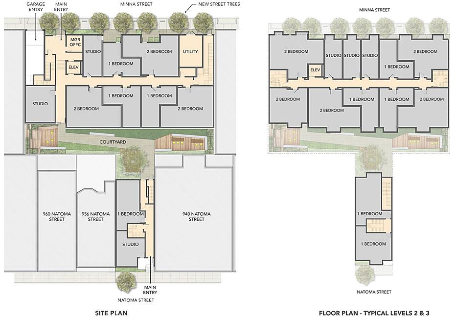 915 Minna Site Plan