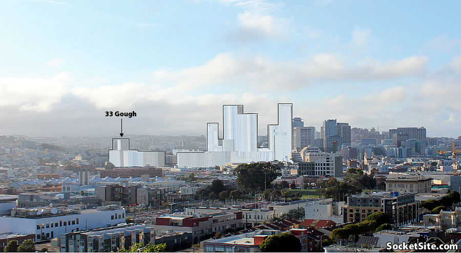 33 Gough Street and the Greater Hub's Proposed Heights