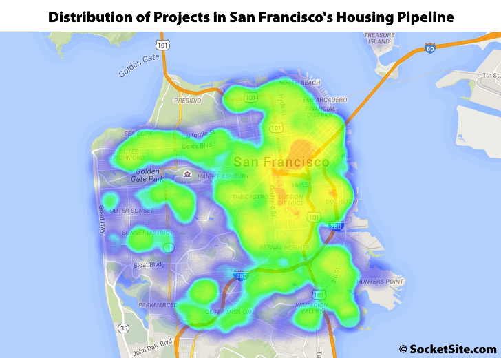 Distribution of Developments in San Francisco's Housing Pipeline: Q1 2016