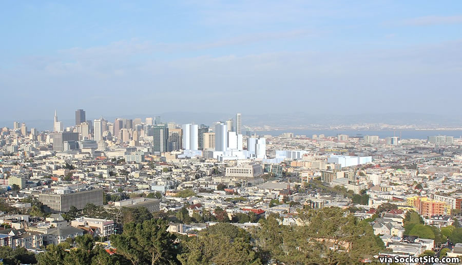 The Hub from Corona Heights: Massed with Current Height Limits