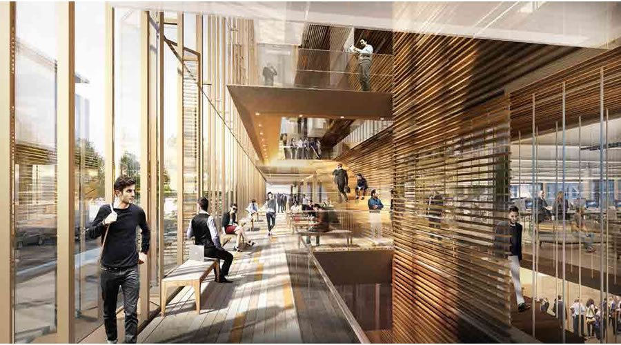 Uber Mission Bay Campus Rendering 2016 - Commons