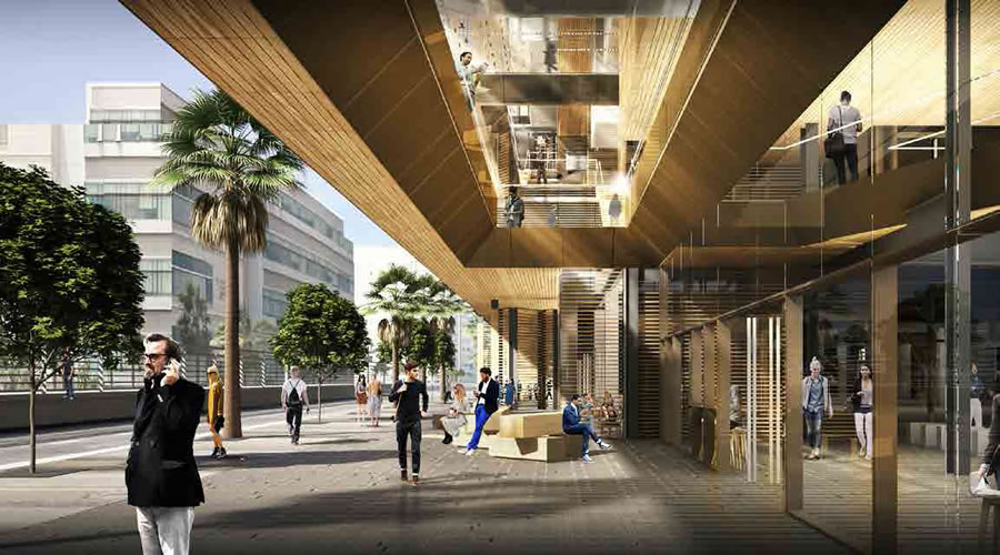 Uber Mission Bay Campus Rendering 2016 - Third Street