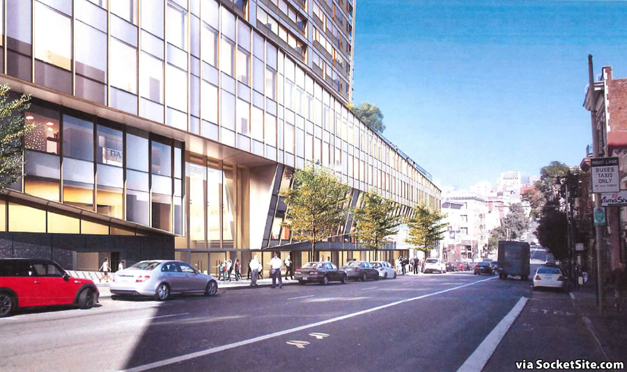 1200 Van Ness Rendering 2016: Post Street
