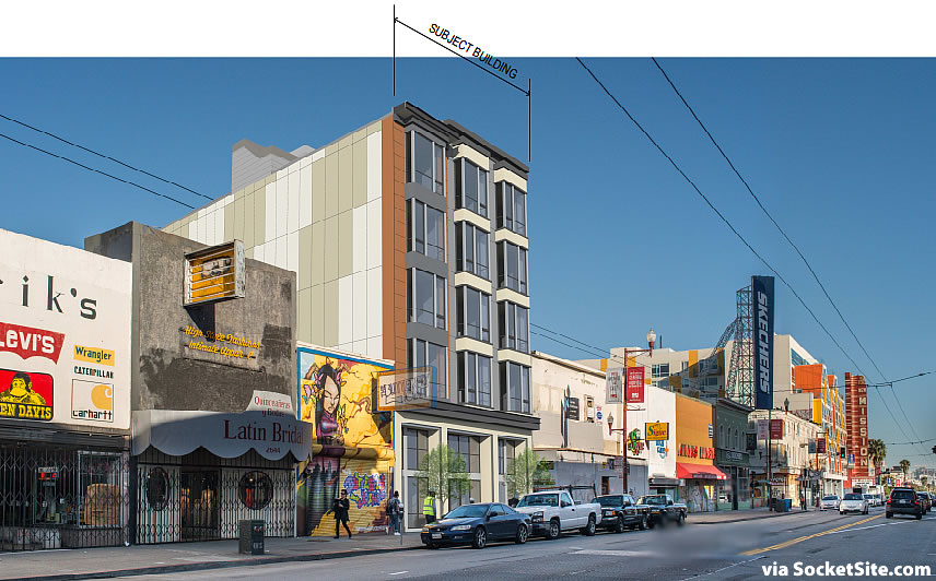 2632 Mission Street Rendering