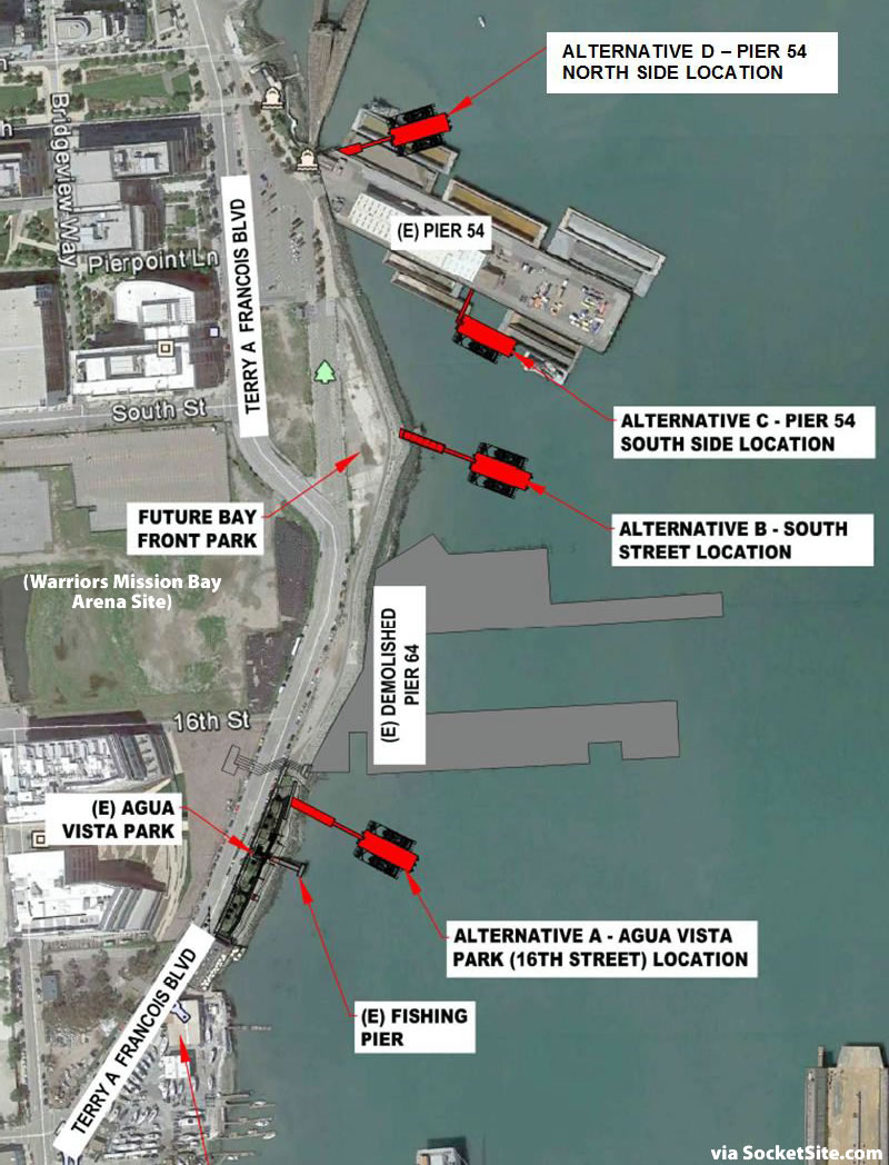 Mission Bay Ferry Landing Sites