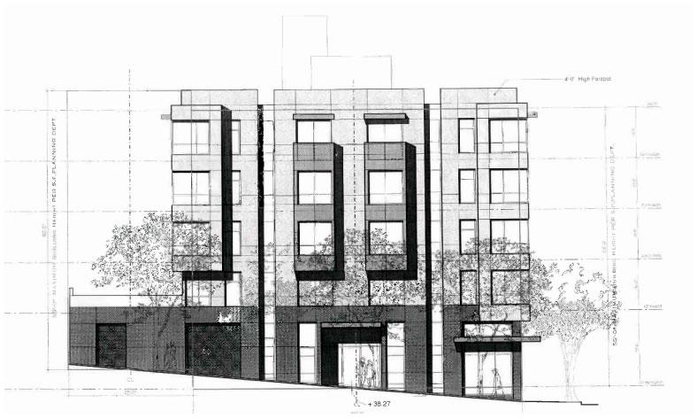198 Valencia Street Design: Duboce Facade