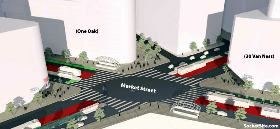 The Market Street Hub Plan: Intersection of Market and Van Ness