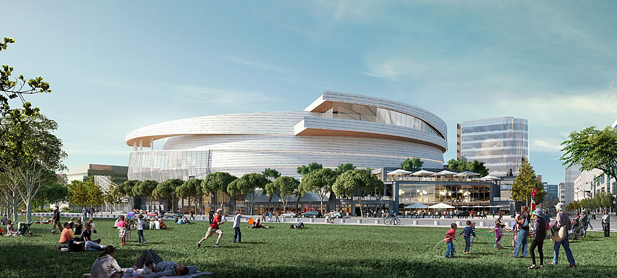Warriors Mission Bay Arena Rendering