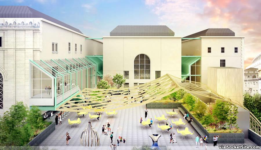 Asian Art Museum Expansion Plan Rendering: Terrace