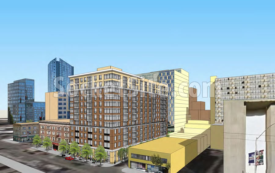 1270 Mission Street Rendering: 120 Feet