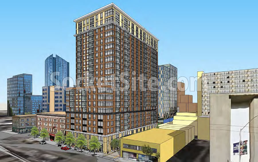 1270 Mission Street Rendering: 200 Feet