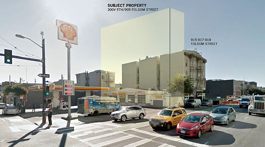 Designs for a Slice of This SoMa Gas Station Site Have Been Drawn