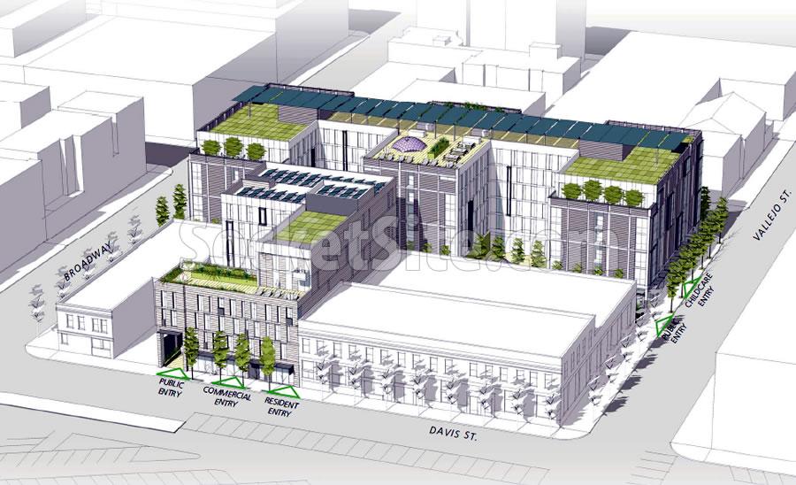 88 Broadway Design: Davis Street Facade