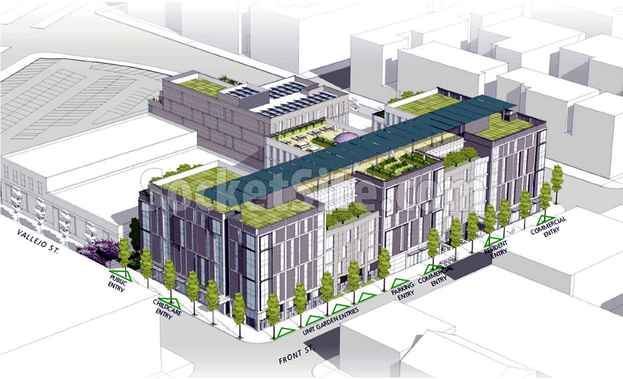 88 Broadway Design: Vallejo Street Facade
