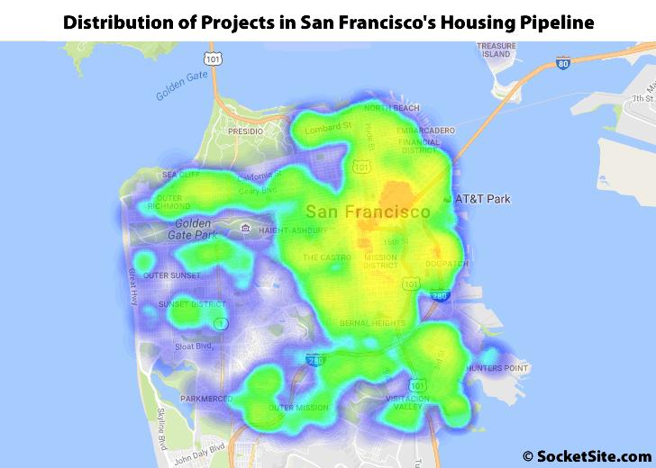 Distribution of Developments in San Francisco's Housing Pipeline: Q2 2016